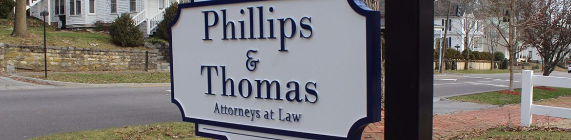 Phillips & Thomas Law, PLLC in Abingdon, VA page banner